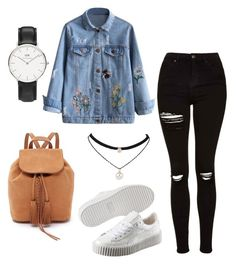 """""""Untitled #532"""" by shopaholic02 on Polyvore featuring Topshop, Puma and Daniel Wellington"""