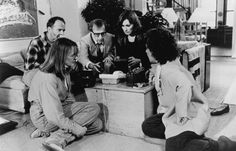 Still of Woody Allen, Diane Keaton, Anjelica Huston and Ron Rifkin in Manhattan Murder Mystery
