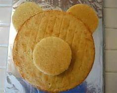 Easy Teddy Bear cake, sort of how I'd do it. Teddy Bear Party, Teddy Bear Cakes, Teddy Bears Picnic Party, Teddy Bear Birthday Cake, Picnic Birthday, Cakes For Boys, Cake Tutorial, Creative Cakes, Cake Designs