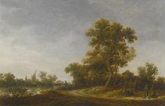 Jan Josefsz. van Goyen - Landscape with travellers Conversing on a Sandy Path…
