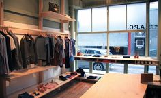 The A.P.C. store on Redchurch Street makes Jean Touitou's signature style available to all. #oldstnewclothes #oldstnewrules