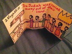 """2 Kings 25. Zedekiah. God finally says """"there is no remedy"""" and Judah is carried away into Babylonian Captivity under King Zedekiah's watch. A very sad story about the consequence of years and years of God's people being unfaithful to Him. Easy, inexpensive, and unique children's Bible lessons. Take a look and share!"""