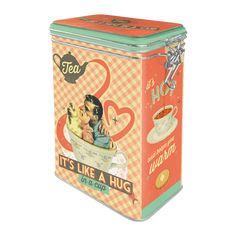 Tea Its Like A Hug in a Cup - Kaffeboks - METALLSKILT.NO