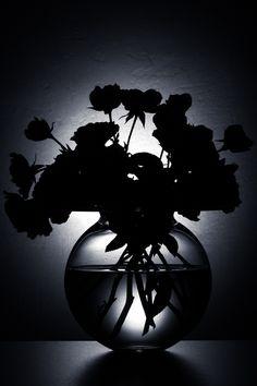 black floral arrangement
