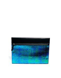 Image 1 ofASOS Hologram Clutch Bag
