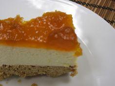 sabor a casa: Cheesecake com compota de abóbora