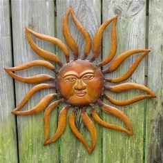 20 inches in diameter, stamped metal Bought in Pensacola, Spring 2008 Good Morning Sunshine, My Sunshine, Vincent Van Gogh, Used Power Tools, Surya Namaskar, Sun Moon Stars, Sun Art, Sun Shine, Gold Rush