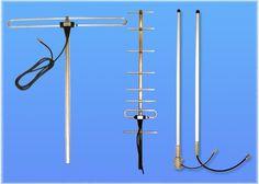 base station antennas vhf uhf pmr tetra, yagi collinear and folded dipole