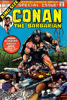 Conan The Barbarian King-Size n°1, 1973, cover by Barry Windsor-Smith.