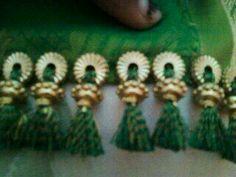tassels for saree ile ilgili görsel sonucu Saree Tassels Designs, Saree Kuchu Designs, Rangoli Designs, How To Make Tassels, Thread Bangles, Crochet Designs, Traditional Outfits, Blouse Dress, Hand Embroidery