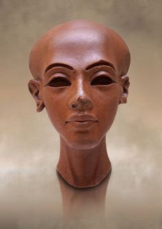 Photo of Ancient Egyptian quartz statue head of princess from Amarna.