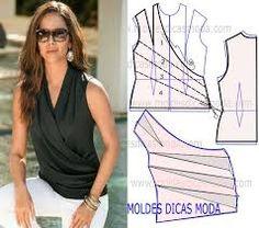 Resultado de imagen para patrones de blusas cruzadas