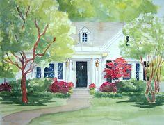 Watercolors by Liana Yarckin: Custom Home Portraits