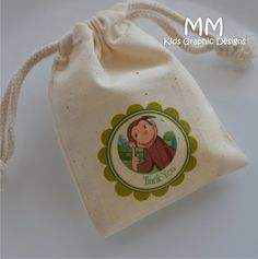 24 Muslin Favor Bags  4x6inch  Birthday Baby Shower  by MMKids, $28.80