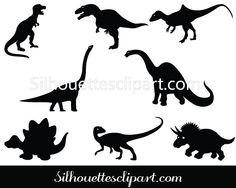Dinosaur Silhouette Vector Graphics Download
