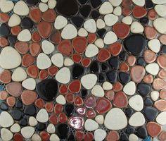 Pebble porcelain tile pebble mosaic wall tile backsplash PPMT035 ...
