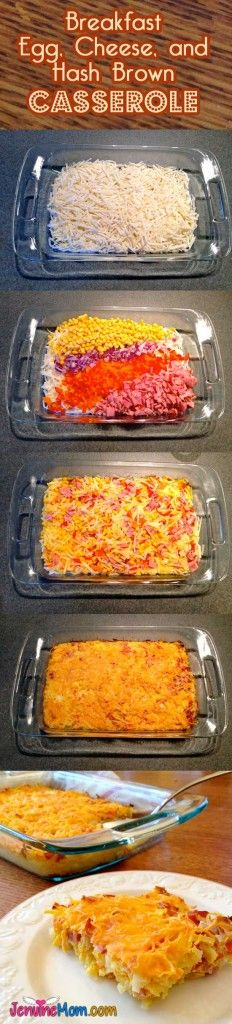 Breakfast Egg, Cheese, and Hash Brown Casserole - 100% Simply Filling and a Great Start to Your Day!