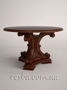 Эксклюзивные резные столы и стулья в гостиную