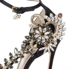 DSquared2 Satin High Heel Sandal With Jewel Detail