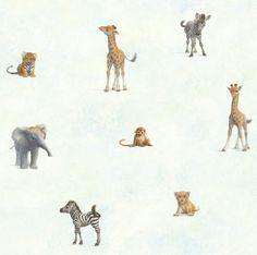 Kids wallpaper, Jungle by Warner Wallcoverings. Available through Guthrie Bowron.