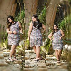 # Summer' 16# Bom dia meninasOlha que lindo esse vestido na estampa étnica trabalhado na renda! Pra arrasar! # ootd # moda # plus size #