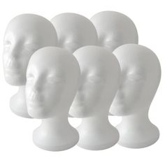 Amazon.com: (6 Pack) Styrofoam Model Heads $21