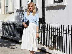 Blogger Marie Hindkær (Blame it on fashion) loves Swedish fashion. Here wearing updated classics from BLACK + Anglo-Swedish watch from Larsson & Jennings