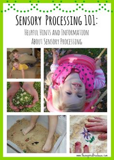 Sensory processing is one of the most complex aspects of child development.  When planning sensory activities for kids, it's important to understand the basics about each of the sensory systems in order to make sensory play beneficial and fun for little ones. Repinned by Apraxia Kids Learning. Come join us on Facebook at Apraxia Kids Learning Activities and Support- Parent Led Group.