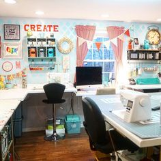 my craft room by the little green bean More