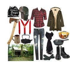"""Oregon Lumberjill"" by maverax on Polyvore ...lumberjack & Jill bridal party"