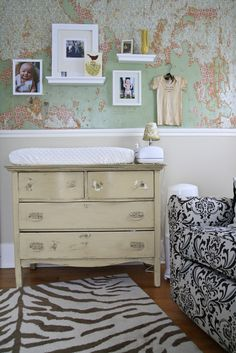 Wall covering and dresser