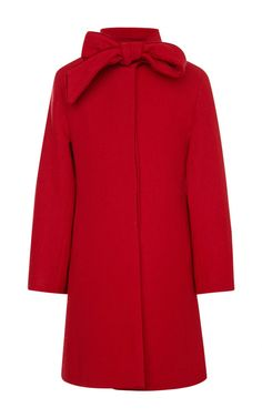 Velvet Bow Coat by Oscar de la Renta for Preorder on Moda Operandi
