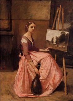 Corot's Studio - Camille Corot