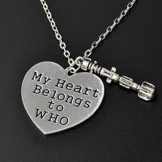 Doctor Who Owns My Heart Necklace