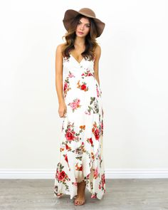 cdedeaab87ce Kellen Wrap Maxi Dress - PREORDER Wrap Dress Floral, Maxi Wrap Dress, White  Floral