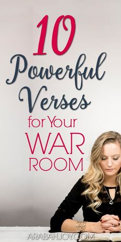 Do you want to deepen your prayer life and do warfare like never before? These 10 powerful Scriptures will equip you for doing spiritual warfare. Read these war room verses for your prayer time, and get your own set to use in your prayer closet. #prayer #warroomprayer #prayingScripture