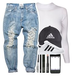 """""""N I A"""" by lovelyshades ❤ liked on Polyvore featuring NARS Cosmetics and adidas"""