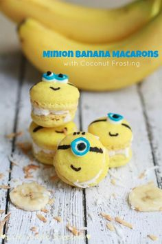 Minion Banana Macarons with Coconut Buttercream Frosting - Life Made Sweeter
