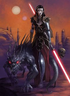 Original Star Wars character, Ophelia, commissioned by owner, Ophelia Delacroix (OpieDoig). Ophelia with a Tuk'ata (Commission) Rpg Star Wars, Star Wars Sith, Jedi Sith, Sith Lord, Sith Armor, Star Wars Characters Pictures, Star Wars Images, Star Wars Concept Art, Star Wars Fan Art