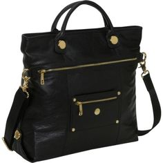Special Offers Available Click Image Above: Knomo Oria Pebbled Leather Cross-body Laptop Shopper (battersea) (black)