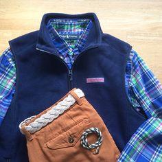 Shirt: Polo Ralph Lauren + Vest: Vineyard Vines + Chinos: The West is Dead + Belt & Bracelet: Kiel James Patrick // IG: @jeffdepano