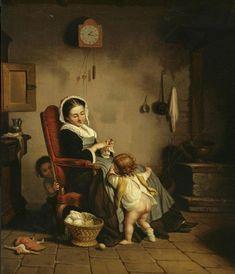 Théophile Emmanuel Duverger - Mother with children
