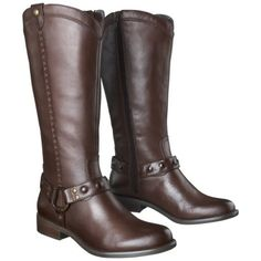 Women's Mossimo Supply Co. Erika Genuine Leather Studded Harness Boot - Brown from Target-Love These!!!