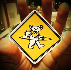 Dancing Hula Hoop Bear / Grateful Dead / String by WittyStickers, $3.33