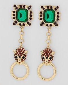 Deco Leo Earrings | Emma Stine Limited
