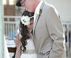 this made me cry, so touching!  Staged Wedding Provides Terminally Ill Father A Chance To Walk His Daughter Down The Aisle