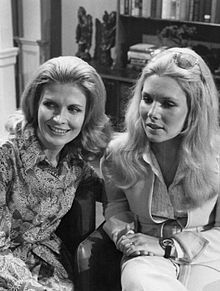Penberthy as Pat Randolph (left) and Jacqueline Courtney as Alice on soap opera Another World Alice (right) 1973.