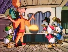 """Catch as Cash Can"", also known as ""The Firefly Fruit Contest"", is a four-episode serial (episodes 36-39) from the first season of DuckTales. Scrooge McDuck and Flintheart Glomgold have been called to the city of Macaroon by the Grand Kishke, for he has discovered a cavern full of pear-shaped fruits that glow like lightbulbs. Since the Kishke isn't a businessman, he's decided to have the richest man in the world market the fruit, and he offers that Scrooge and Glom..."