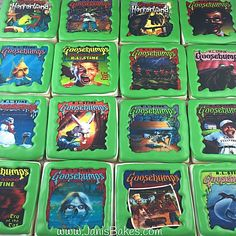 janisbakes | Characters Goosebumps decorated cookies
