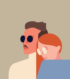 Rob Bailey is on PICAME today, full gallery  picamemag.com  #robbailey #picame #creativity #inspiration #art #artist #visualart #artwork #illustration #illustrator #editorialillustration #design #graphicdesign #drawing #painting #type #typography #vector #couple
